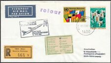 Vereinte Nationen 1981 Flugpost Retoure