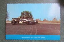 New listing 1971 Postcard Francois Cevert Tyrrell  Watkins Glen F1 USGP Formula 1