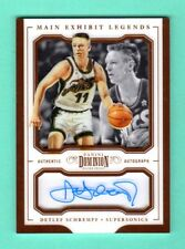 DETLEF SCHREMPF 2017-18 DOMINION MAIN EXHIBIT AUTOGRAPH ON CARD AUTO / 25 SONICS