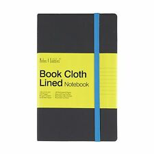 Luna - Medium Lined Cloth Notebook, Grey Cover - Blue, New