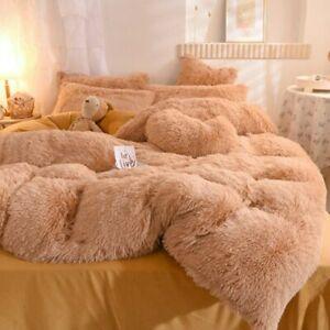Super Warm Bed Plush Velvet Bedding Set 4 Pieces Lamb Cashmere Duvet Cover Sheet