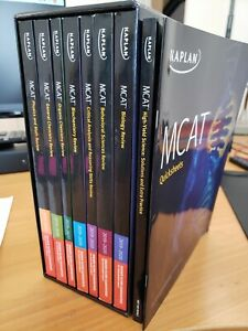 Kaplan MCAT 7-book Subject Review 2019-2020 w/ quicksheets and high-yield book