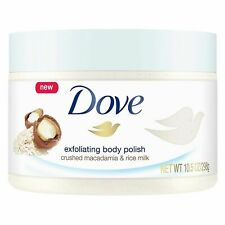 Dove Exfoliating Body Polish Body Scrub Macadamia & Rice Milk 10.5 Ounce