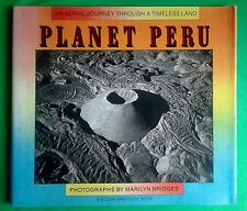 Planet Peru by Marilyn Bridges (1991, Hardcover) Signed Book