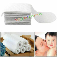 10pcs Washable Reusable Baby Modern Cloth Cotton Diaper Nappy Liners Inserts