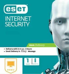 Original Eset Internet Security 2021, 6 MONTHS -1 PC (license key) antivirus