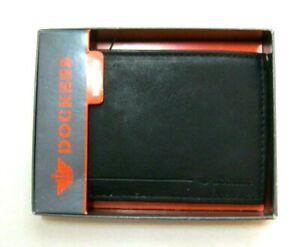 Dockers Men's Handcrafted Black Bifold Passcase wallet