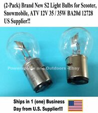 (2-Pack) Brand New S2 Light Bulbs for Scooter, Snowmobile, ATV 12V35/35W BA20