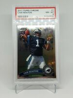 2011 Topps Chrome Cam Newton Rookie Card RC #1 PSA 8 NM-MINT Panthers Patriots