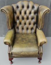 Green Chesterfield Chair Queen Anne Fireside Chair