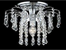 "Palace Lexington 11""  Crystal Chandelier Flush Mount Light Chrome Ceiling Light"