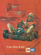 Vintage 1960's Rupp Dart Kart 16 X 20 Poster