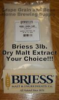 BRIESS 3lb. Dry Malt Extract, Dry Malt Extract, Malt Extract, DME, YOUR CHOICE!!