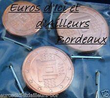 Lot de 3 pièces 1, 2 et 5 centimes MALTE 2008 - UNC - NEUVES