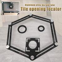 Tile Hole Locator Adjustable Ceramic Six Fold Ruler Drill Guide 31*5.5*2.6cm