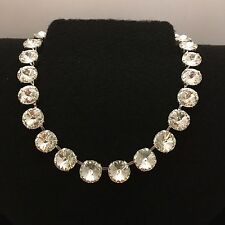 12mm Rivoli Cup Chain Necklace Made With Genuine Swarovski Crystal