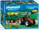 Playmobil 4496 Tractor With Hay Trailer Farmer & Hay Bales NEW SEALED
