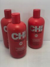 SET CHI Iron Guard 44 Shampoos (2) & Conditioner Thermal Protecting 12 oz each