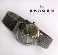 Skagen 355SMM1 women's quartz watch date indicator stainless steel
