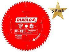 5 PACK Freud D1060X Diablo 10-Inch 60 Tooth ATB Fine Finish Saw Blade