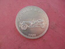 1909 ROLLS-ROYCE SILVER GHOST automobile argentata SHELL COIN TOKEN