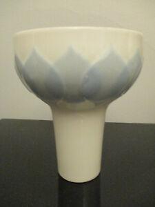 Vintage Mid Century Modern Rosenthal Porcelain Bjorn Wiinblad Blue Lotus Vase!