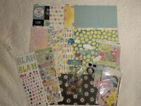New Scrapbook Paper Craft Lot Bo Bunny Summer Mood K & Company Jolees MAMBI