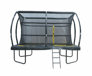 7.5ft x 10ft Telstar ELITE Rectangle Trampoline Package with Cover and Ladder