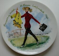 Françoise - D'Arceau-Limoges - Les Femmes Du Siecle 1960 Plate Fr Ganeau 1979