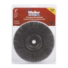 "Weiler Brush 36005 8"" Crimp Wire Wheel Brush Crs Nrw Face 5/8"""