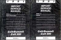 1991 Dodge Plymouth Colt Eagle Summit Shop Manual Set Original Repair Service