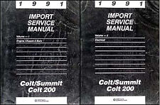 1991 Dodge Plymouth Colt Eagle Summit Shop Manual Set Original Repair Service