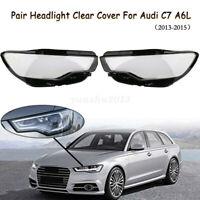 2x Scheinwerfer Glas für Audi C7 Facelift Linsen Streuscheiben Abdeckung 13-15