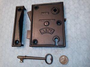 BLW Rim Lock Only Reversible Restored 1859