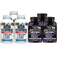 Monster Test Testosterone Booster Pack, Monster Test + Monster Test PM 6-PK