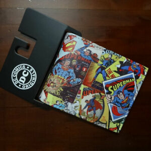 DC Comics Superman Comic Strip Faux Leather Wallet With ID Holder