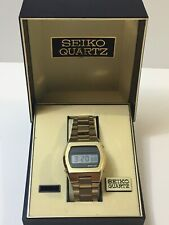 Vintage 1970's Seiko Quartz LC  0439-4009 All Original W/ Band And Box Works!