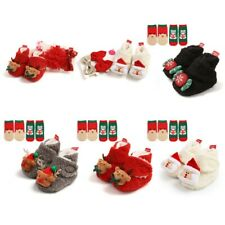 Baby Toddlers Shoes Girl Boy Christmas Anti-slip Shoes SEND HAIRPIN SOCKS FREE
