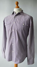 Men's Purple Checked Ted Baker Shirt, Size 5 (UK XL).