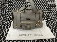 NEW MICHAEL KORS AUSTIN 38S1CANS3L STONE GENUINE LEATHER  MSRP $398.00