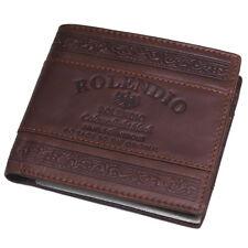 Mens Leather Wallets 6 Credit Card Wallet Full Zipper Pocket Vintage Purse J212