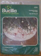 "BUCILLA ""CHRISTMAS DELIGHTS"" TREE SKIRT CANDLEWICKING EMBROIDERY Kit 82099 BNIP"