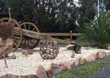 Garden Art Horse Shoe Sphere Ornament Sculpture Metal Art Country Rustic