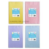 Pack 3 Colour Plastic Table Cloths 121CM Large Disposable Party Banquet cover