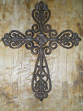Cast Iron Victorian Style RELIGIOUS CROSS  Rustic Ranch Western Country #2