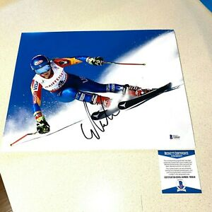 MIKAELA SHIFFRIN AUTOGRAPHED SIGNED 11x14 PHOTO OLYMPIC GOLD MEDAL SKIER Y80849