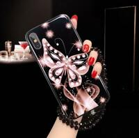 Luxury Butterfly Diamond Soft Phone Case Cover For iPhone 11 Pro 8Plus Xs Max XR