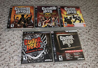 Guitar Hero III/5/Aerosmith/World Tour/Warriors Rock PlayStation 3 PS3 Game Lot