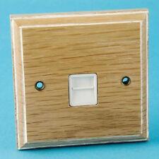 Varilight 1-Gang Telephone Master Plug Socket Limed Oak XKTMLOW