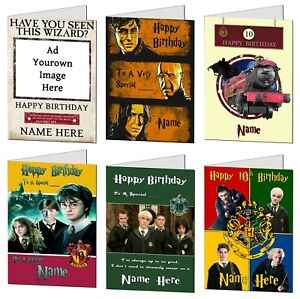 Personalised Harry Potter Birthday Card Movie Film Fan Any Age / Name / Relation